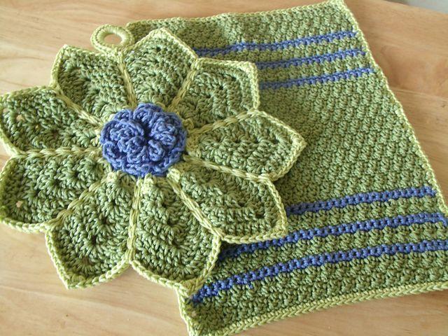 Ravelry: Melanie702\'s Dishtowel & Potholder set | Kitchen Items ...