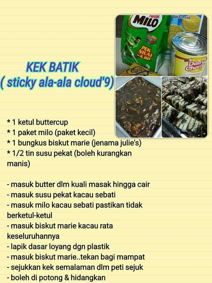 kumpulan resepi kek batik biskut marie kopi foody bloggers Resepi Kek Batik Tiramisu Enak dan Mudah
