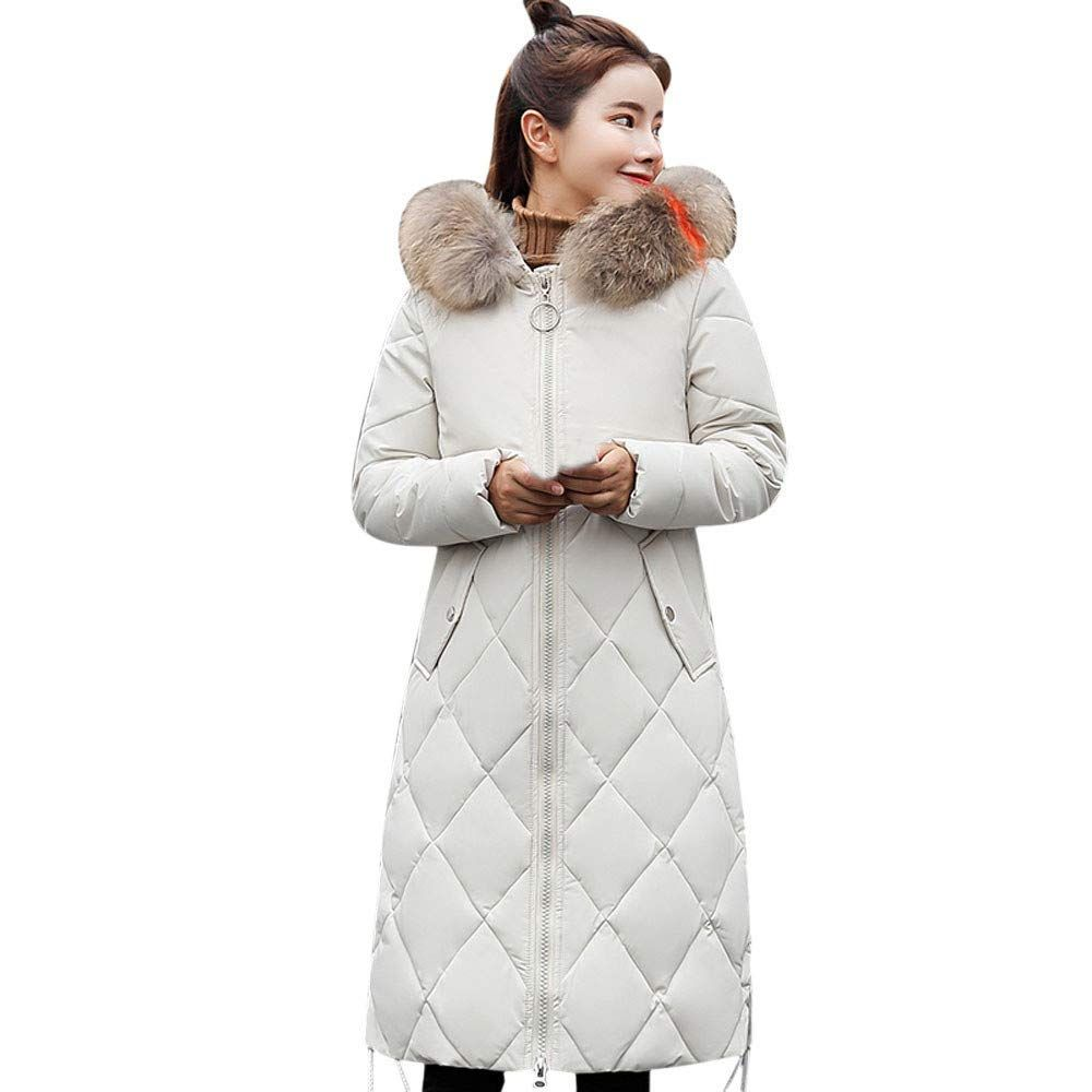 1aa1910108 $38.38 Clearance Sale! Women Faux Fur Coat Cinsanong Winter Thick Hooded  Long Overcoat Warm Slim New Jacket at Amazon Women's Clothing store: