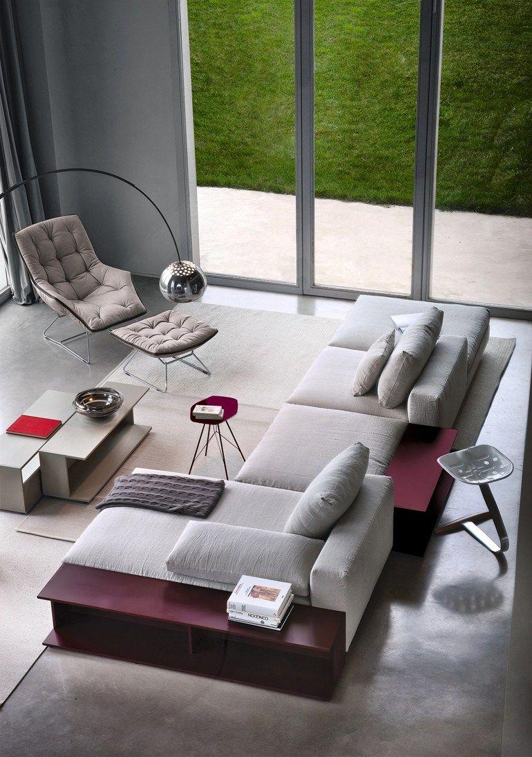 Sectional upholstered #sofa SCOTT 1235 by Zanotta   #design Ludovica ...