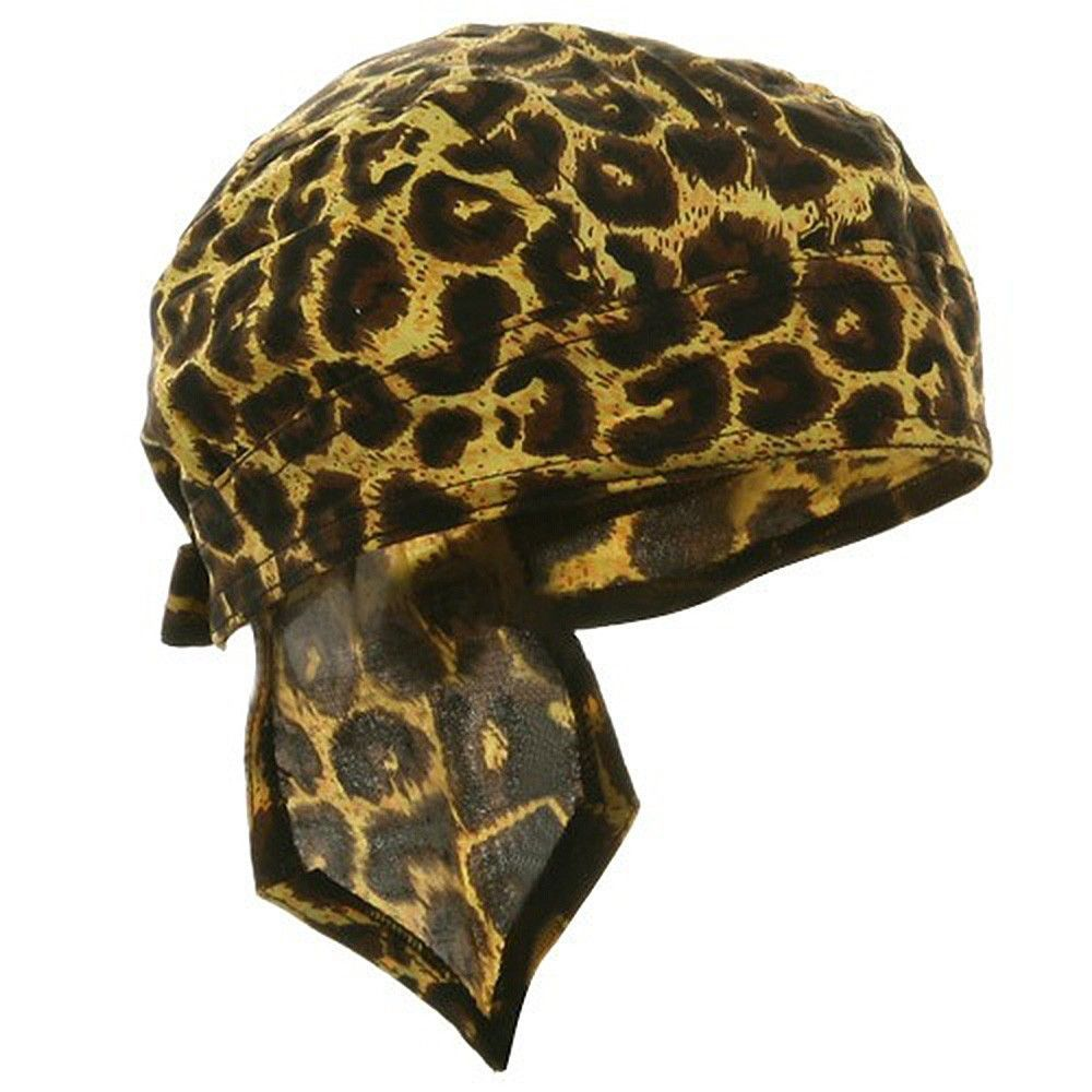 1fe017f485c Jaguar Cheetah Animal Print Spotted Headwrap Doo Rag Durag Skull Cap Cotton  Sporty Motorcycle Hat