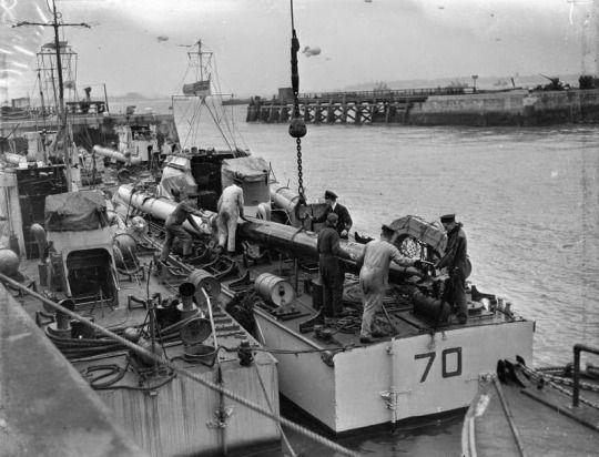 HMS Beehive, in Felixstowe, Suffolk, crews prepare their boats ...