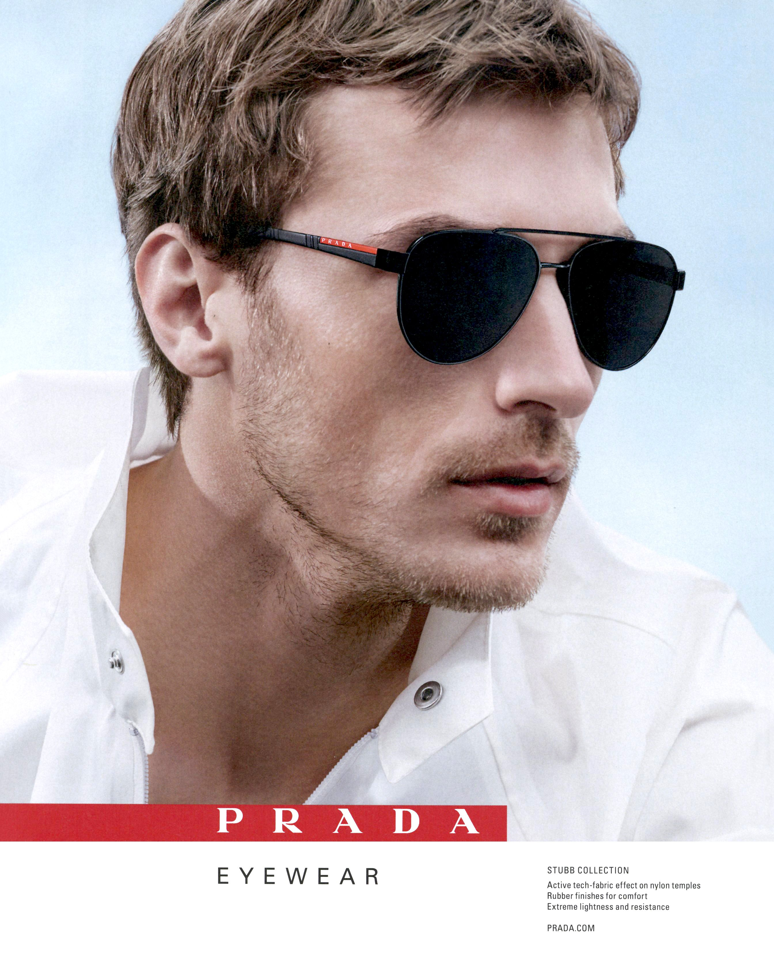 4b106059879 Clement Chabernaud photographed by Willy Vanderperre and styled by Olivier  Rizzo for Prada eyewear spring   summer 2018 campaign.
