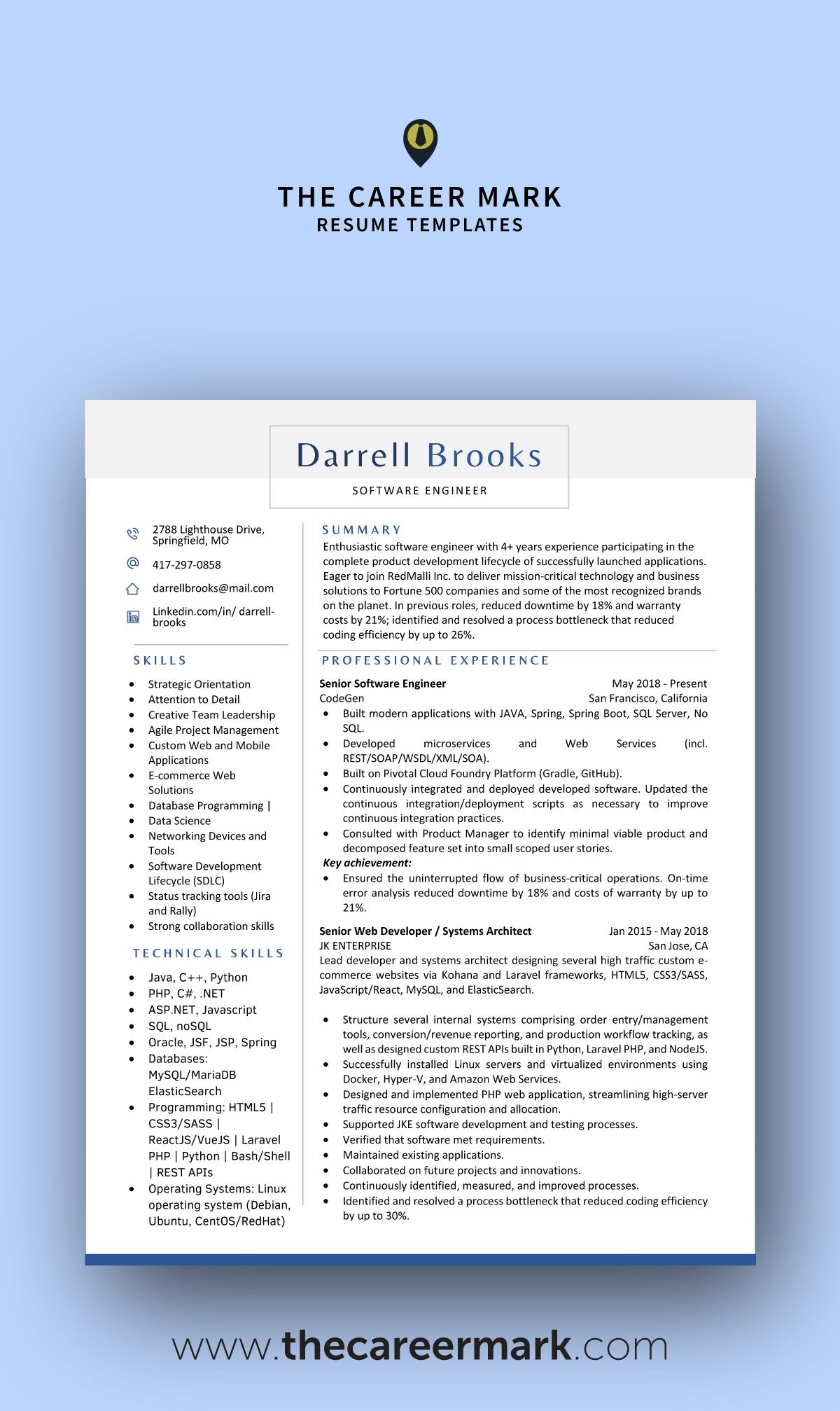 Modern Resume Templates That Make You Stand Out From Competition Resume Template Professional Resume Templates Modern Resume Template