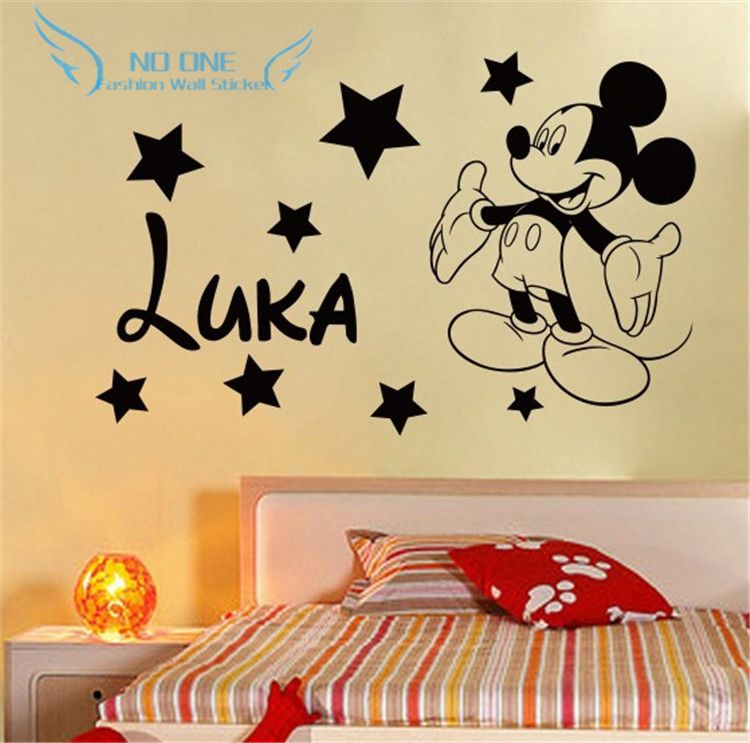 Free shipping Creative DIY cute Mickey Mouse Custom Kids Name baby ...