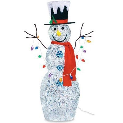 Noma Christmas Decorations: Noma/Inliten-Import Snowman With Lights, 48-Inch, As Shown