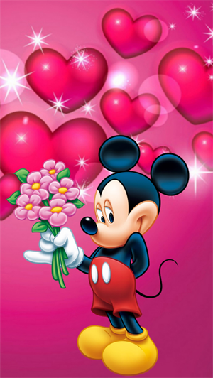 Mickey Mouse With Flowers Wallpaper Imagenes Pinterest