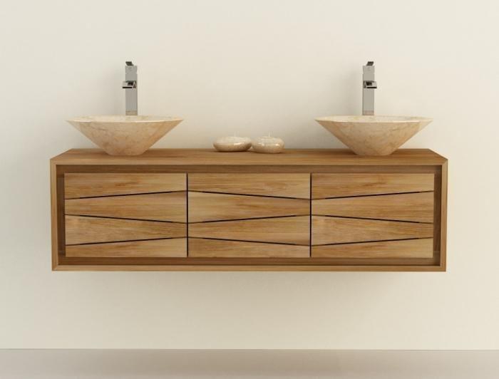 meuble salle de bain exotique teck