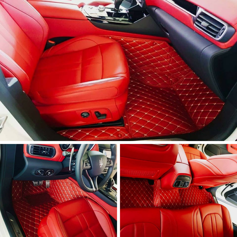 Red Diamond Car Mats For Maserati Transform Your Interior With Our