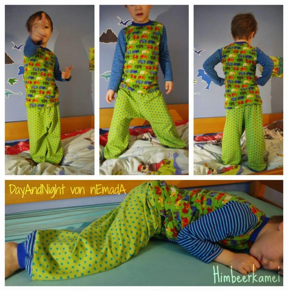 nEmadA: Day&Night Schlafanzug kurz und lang | Nähideen für Kinder ...
