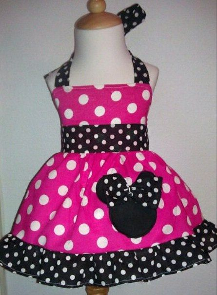 girls minnie mouse disney halter fuchsia dress by. Black Bedroom Furniture Sets. Home Design Ideas