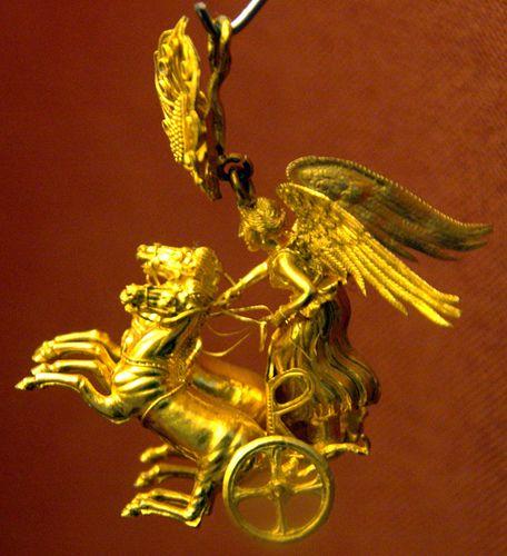 Bildresultat för NIKEdriving a two-horse chariot.