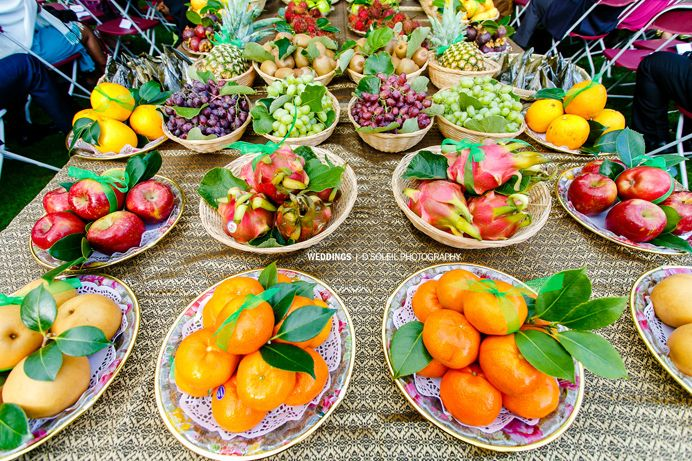 Cambodian Wedding In Fruits And Gifts