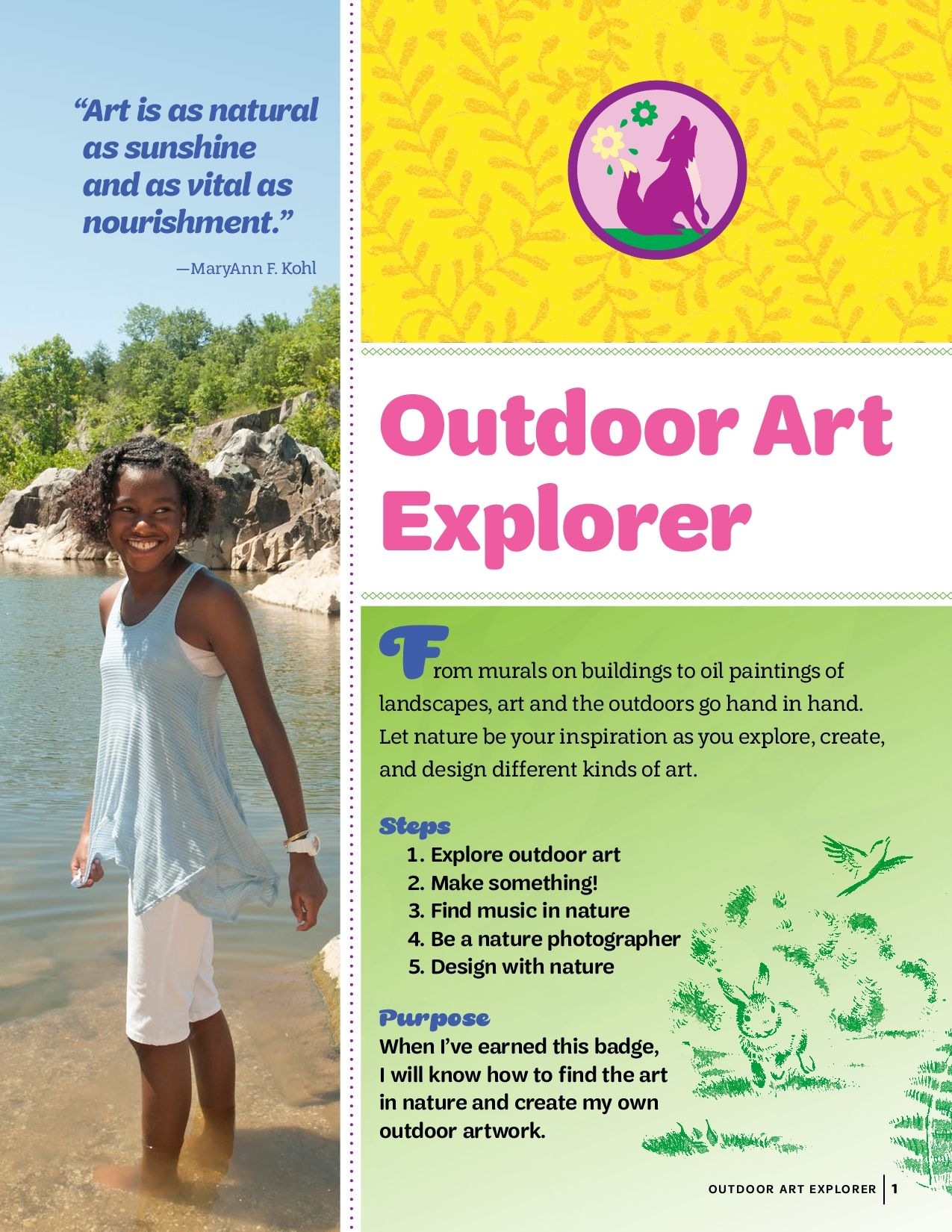 junior outdoor art explorer