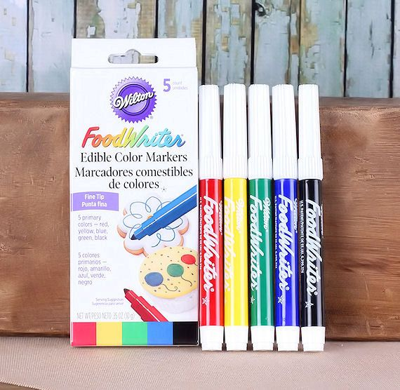 Wilton FoodWriter Pens, Edible Color Marker Pen Set, Primary ...