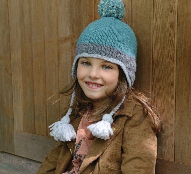 c6867c3332e Et si je faisais et joli bonnet péruvien Phildar pour ma princesse   Modèle  tricot n°22 du catalogue n°134   Accessoires