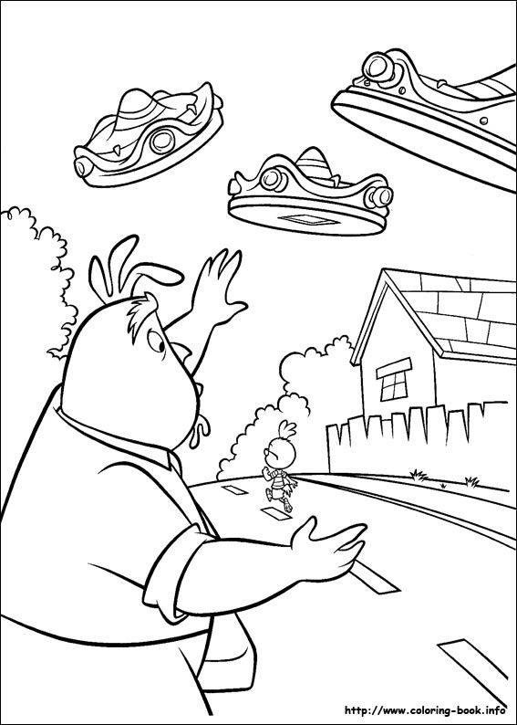 Father Worry Chicken Little Coloring Page