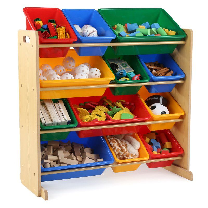 Tot Tutors Primary Kids Toy Storage Organizer With 12 Bins Toy Storage Organization Kid Toy Storage Toy Storage Bins