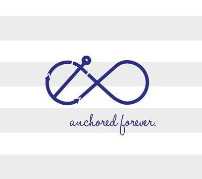 Navy Blue Infinity Symbol Eternal Love Design on iPad Mini Case Cover