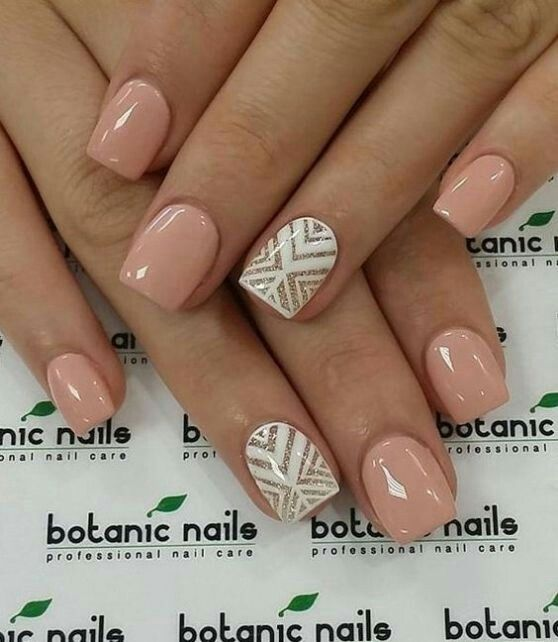 Pin by carolyn bell on art clear nude nails pinterest short winter nails ideas nude and white winter nail art combination the beautiful thing about nude is you can pair almost anything with it prinsesfo Image collections