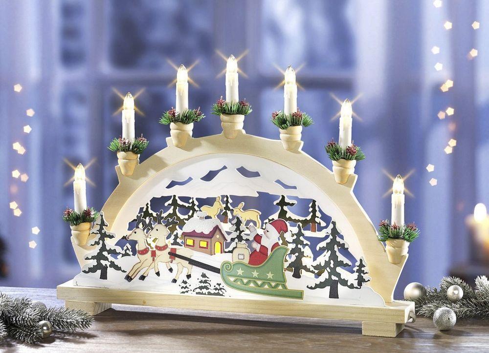 Star Trading Fensterbogen Winter Lichterbogen Schwipbogen Weihnachten Deko
