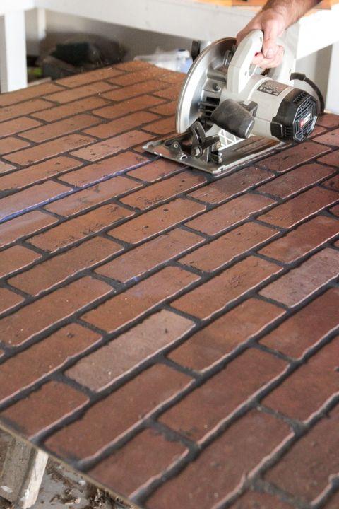 Whitewashed faux brick backsplash (10 of 18) | Tiling | Pinterest