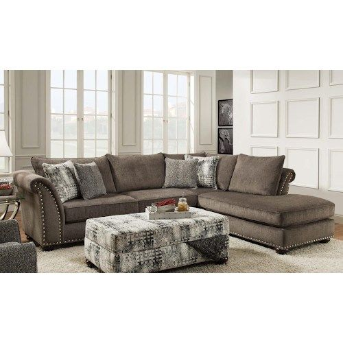 Albany 390 Transitional Two Piece Sectional with Chaise Home