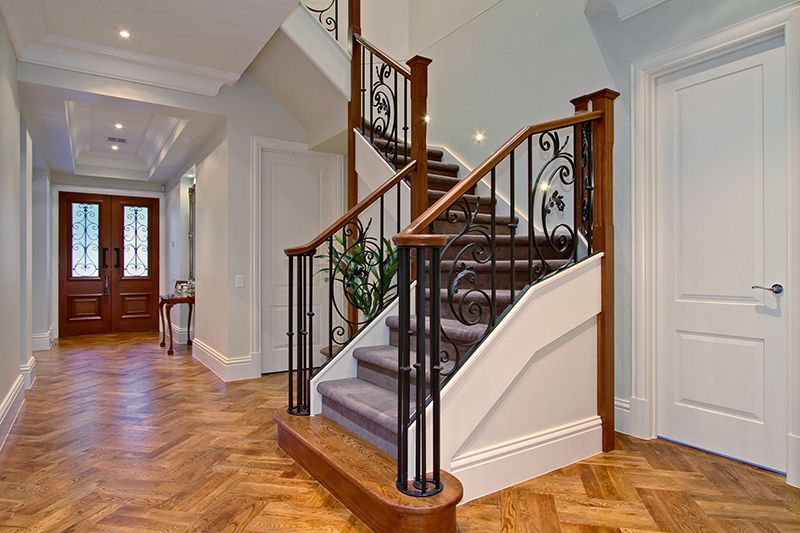 Entry and Feature staircase Period style home (With