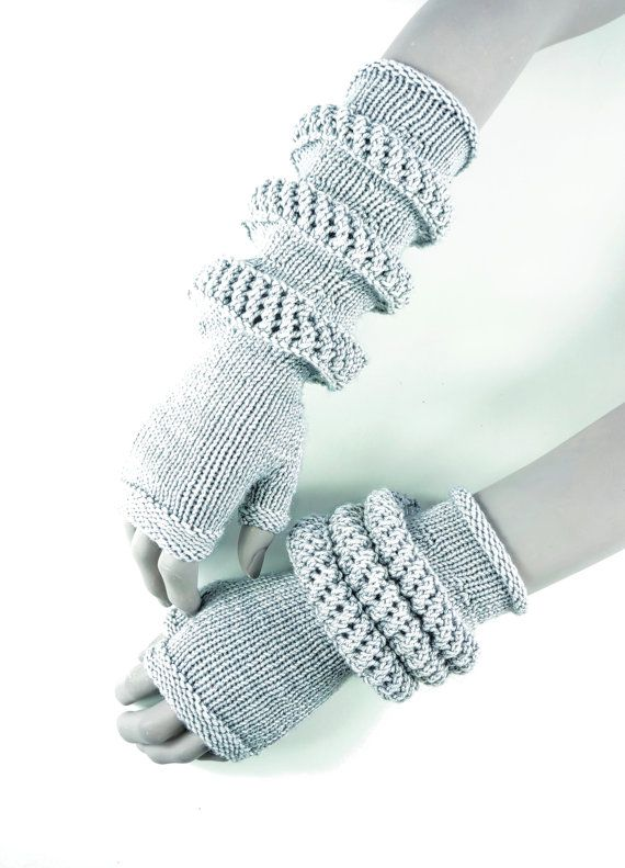 Knitting Pattern for retro-futuristic fingerless mitts - #ad Control ...