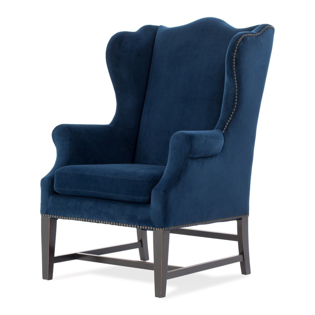 Blue weltino with images wing chair chair velvet