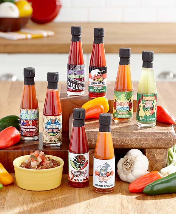 8-Pc. Global Hot Sauce Gift Set | LTD Commodities