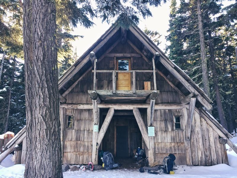 Snowshoe to the Tilly Jane A-Frame   Mount hood