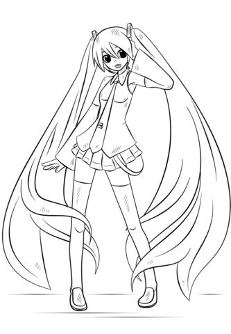 Resultado de imagen para como dibujar a hatsune miku