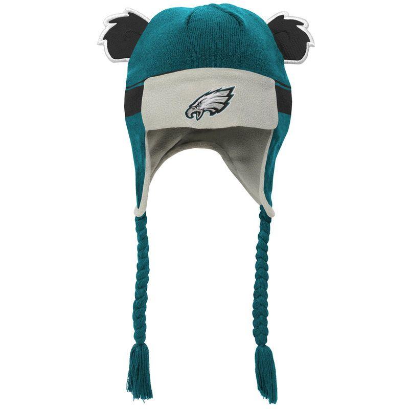 a672e3e56c283 Philadelphia Eagles Toddler Ears Trooper Stripe Tassel Knit Hat - Midnight  Green Black