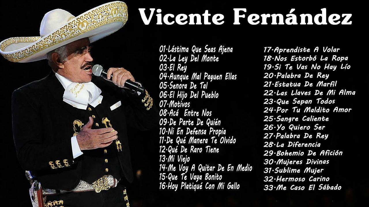 Mejores Canciones De Vicente Fernández Vicente Fernández Sus Mejores é Canciones De Vicente Fernandez Mejores Canciones Vicente Fernandez