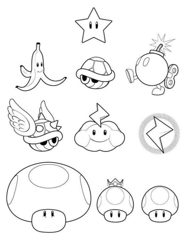 Free Mario Coloring Pages Games  4 Kids Coloring Pages