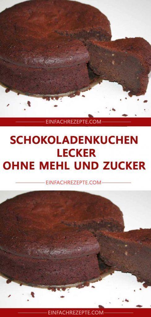 Schokoladenkuchen lecker ohne Mehl und Zucker