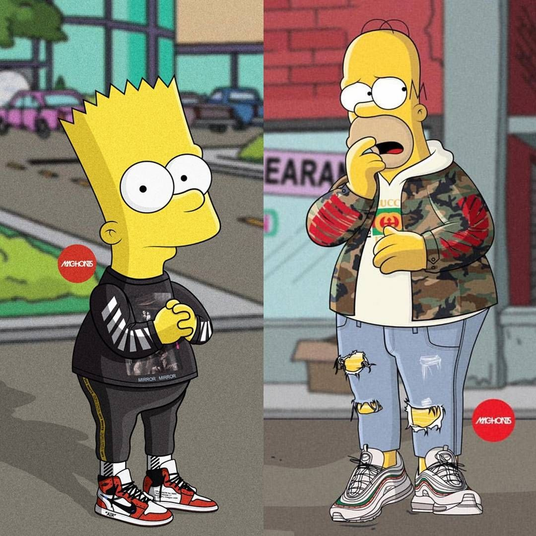 Bart or Homer. machonis Cultureandvibes Papel de