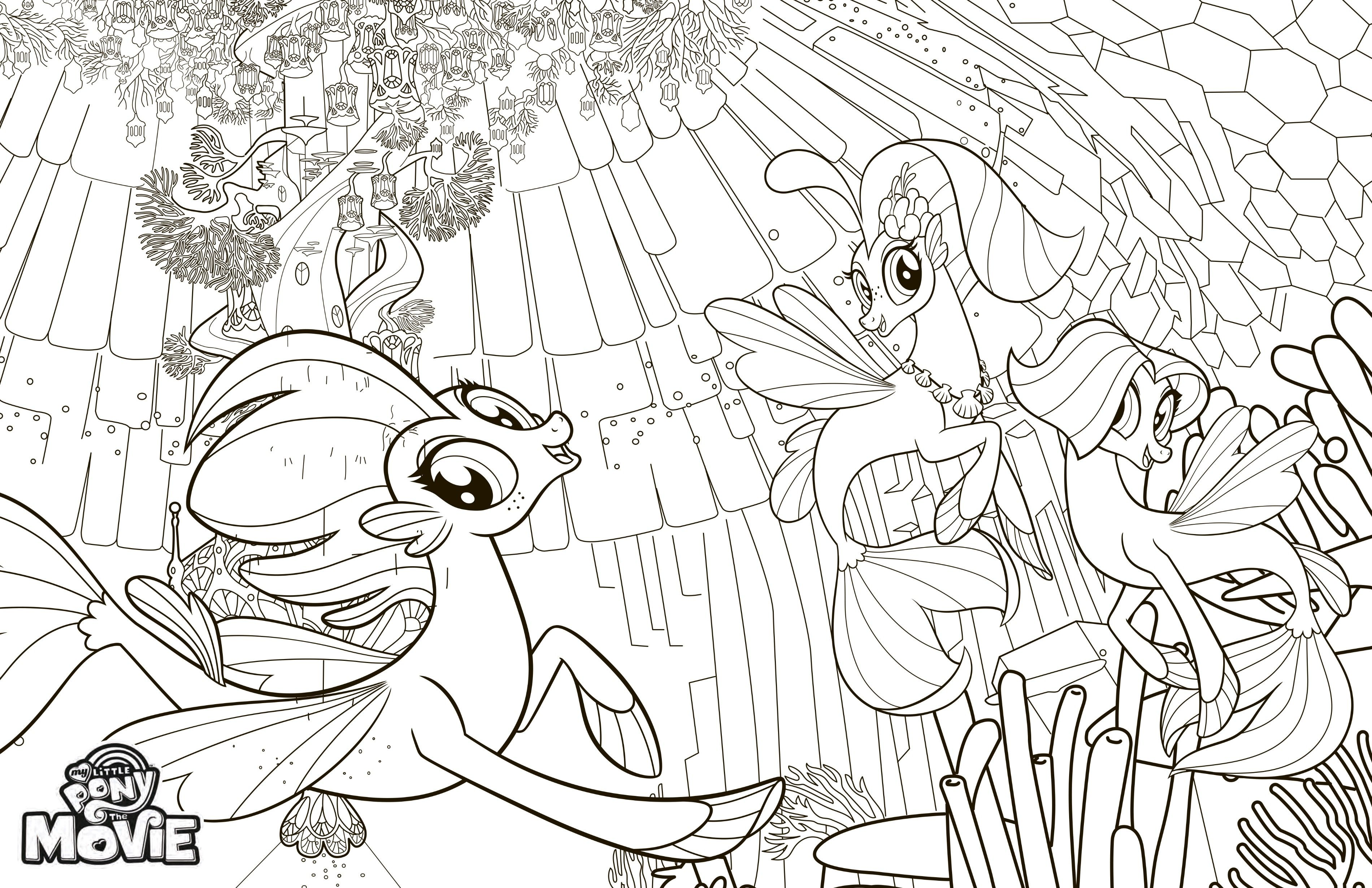 Princess Skystar Coloring Pages