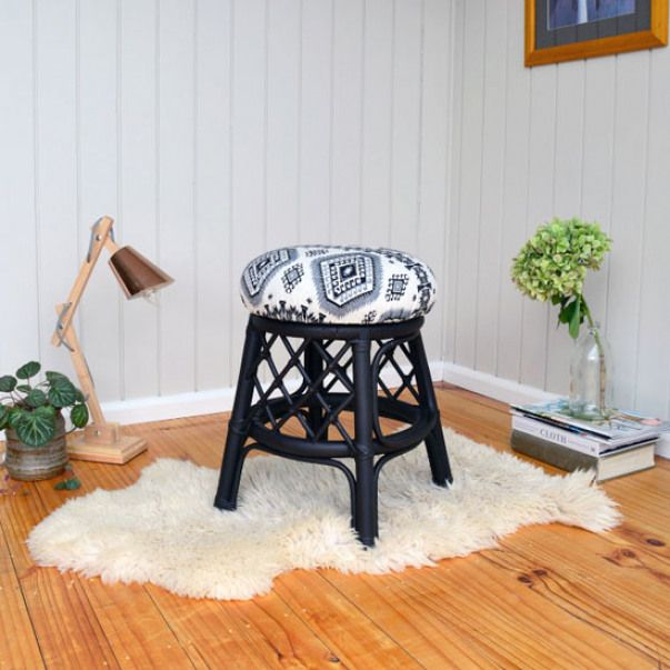 How To Reupholster A Stool Or Chair Update An Old Stool Or Chair With New Upholstery The Easy W Dining Room Chairs Modern Seat Design Swivel Chair Living Room