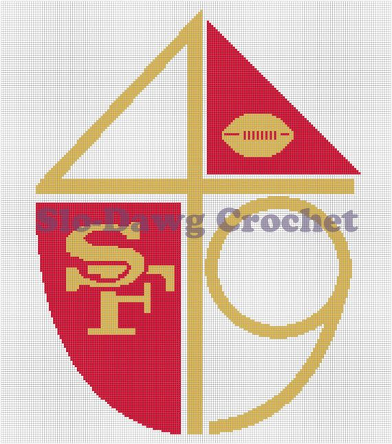 SF 49ers Throwback Logo Crochet Graph Pattern By
