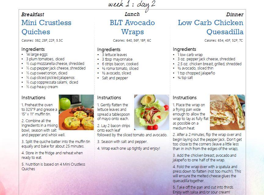 14 Day Keto Meal Plan Free Diet Keto Keto Meal Plan Meal Planning Keto Recipes
