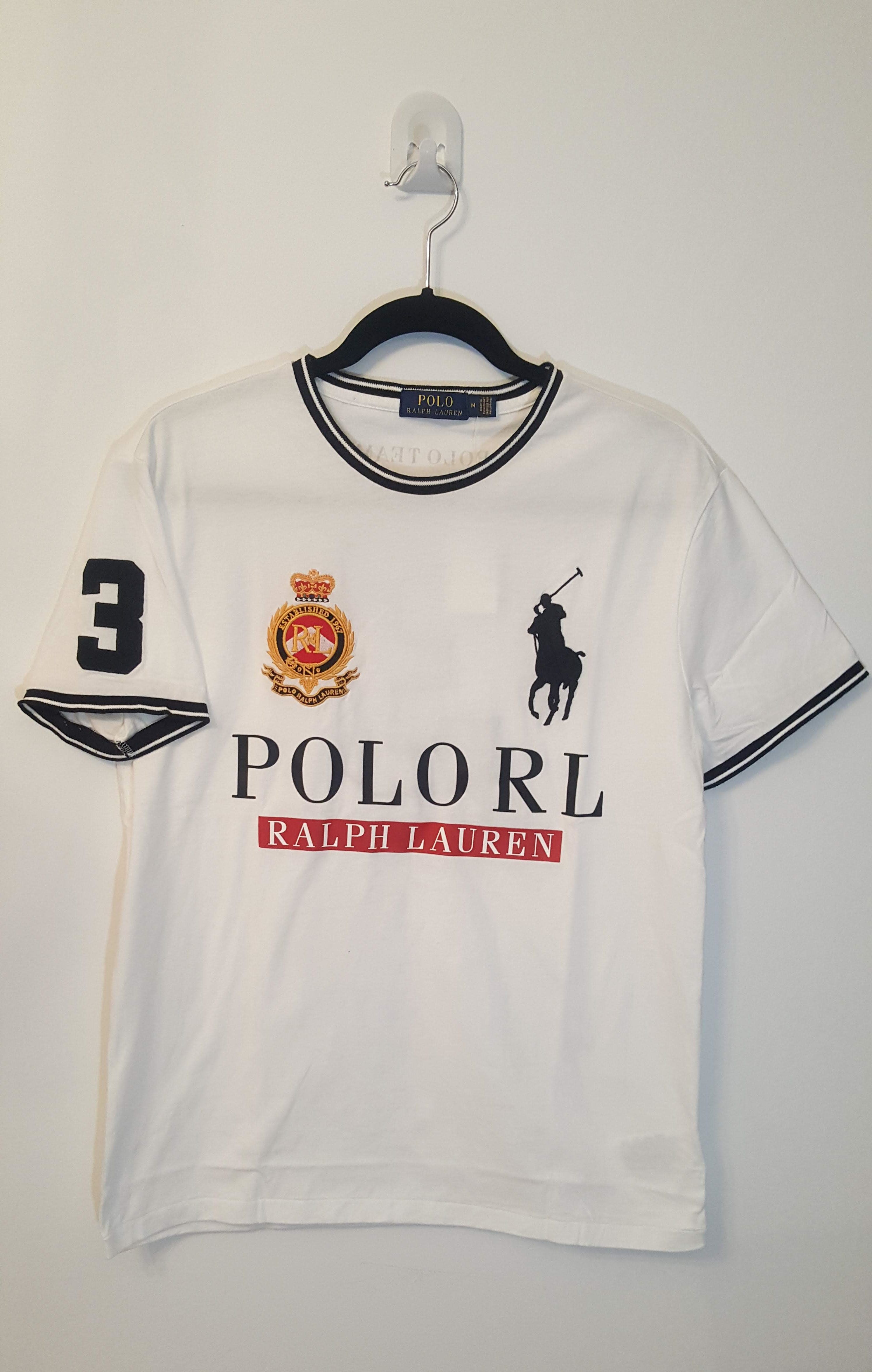 38de338fe NWT Polo Ralph Lauren Men T-Shirt RL POLO Crewneck Size M
