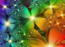 Kolorowe, Kwiaty, Abstrakcja