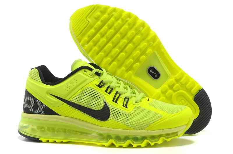 cheaper 42ad0 cae38 Discount Nike Air Max 2015 Mesh Cloth Men Sports Shoes - Fluorescent Green  Black NY410327