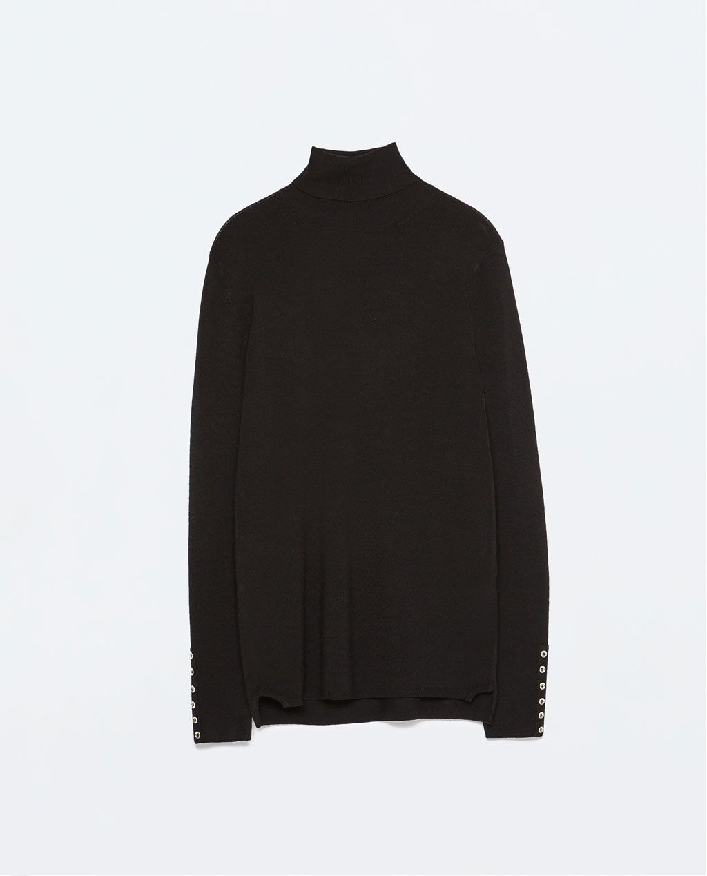 ZARA - COLLECTION SS15 - TURTLENECK RAYON SWEATER WITH HOOKED CUFF