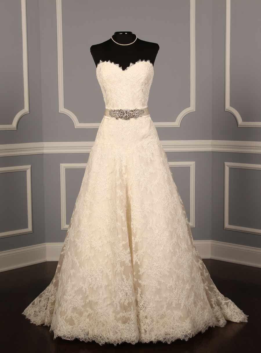 Liancarlo discount designer wedding dress chantilly lace