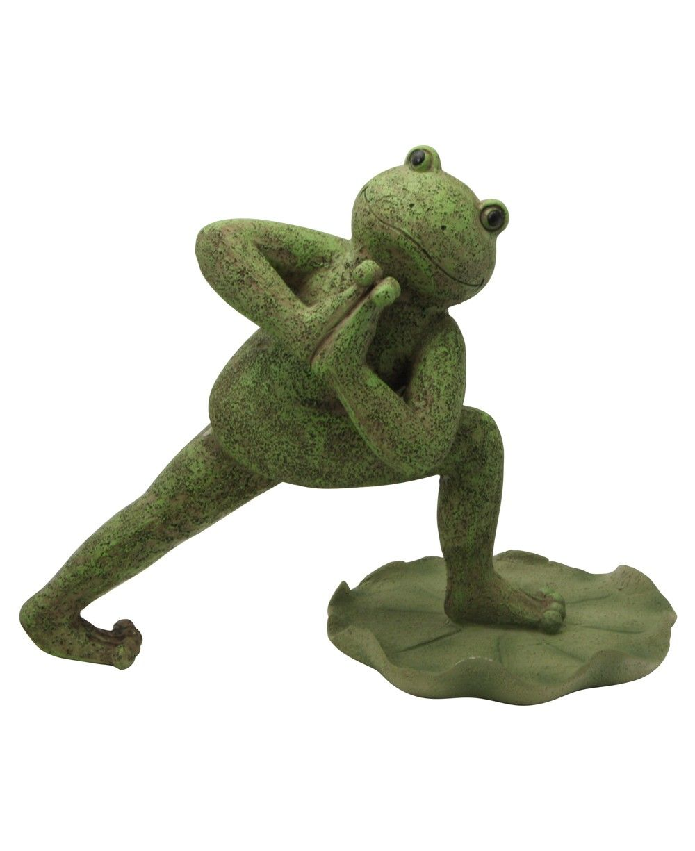 Yoga Frog Garden Statues: Triangle Pose Frog