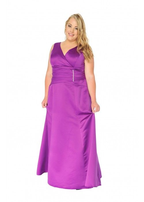 Empire Abendkleid, Ballkleid, XXL, Farbe purple - Abendkleider Plus ...
