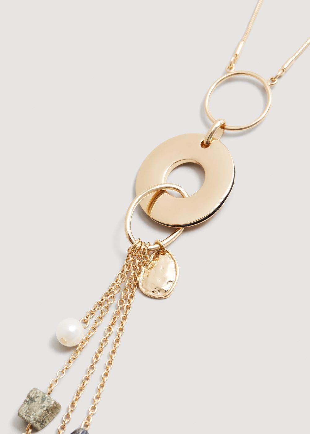 9c509d08a26b Collar colgantes metálicos - Bisutería de Mujer